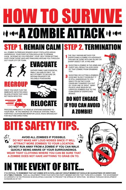 How to SURVIVE a ZOMBIE ATTACK!! Why does this seems soo official lol