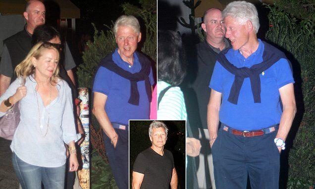 Jon Bon Jovi steps in as birthday companion for Bill Clinton's 69th