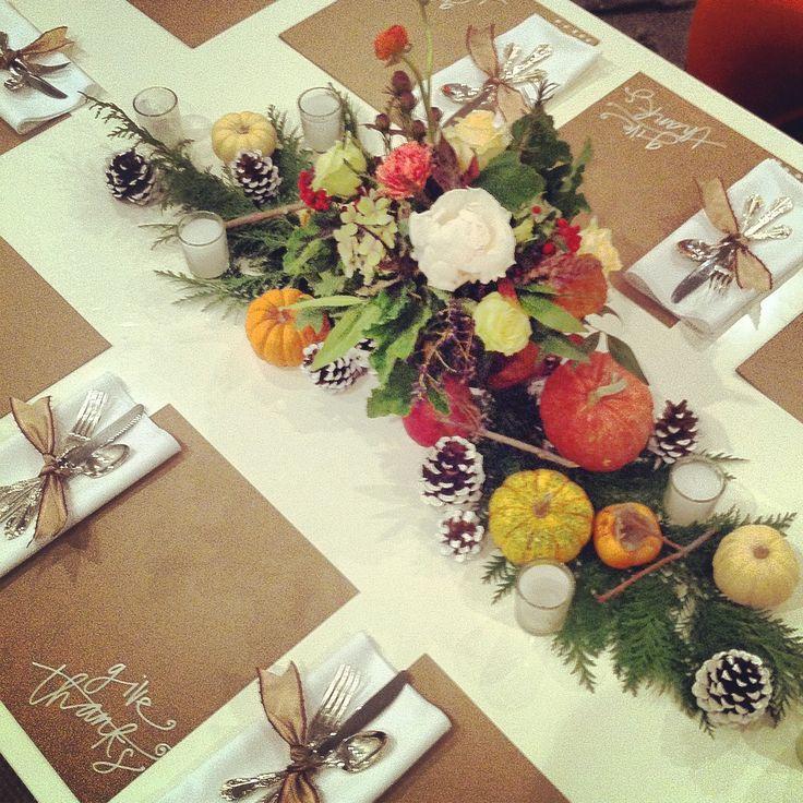 Rosegolden Flowers / thanksgiving table