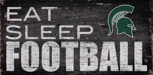 Michigan State University Football Sign Wall Art