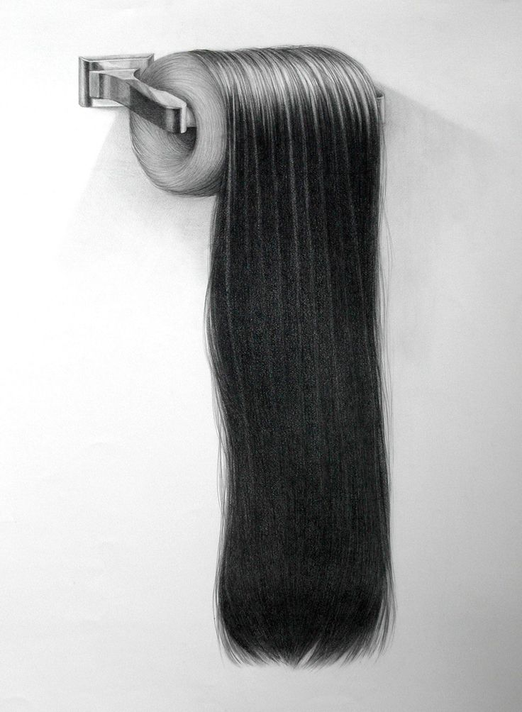 Detailed Graphite Hair Drawings by Hong Chun Zhang | Colossal