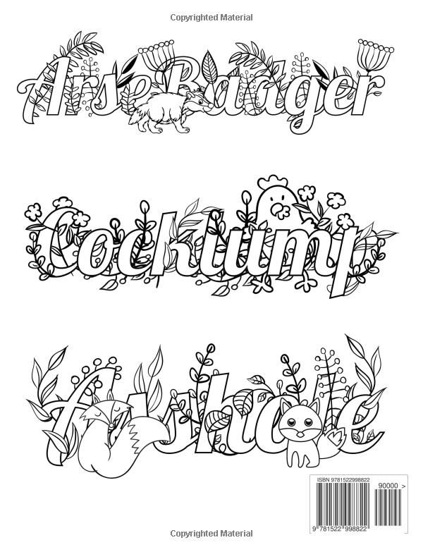 Coloring Pages For Adults Cuss Words : Swear word printable adult coloring pages sketch page