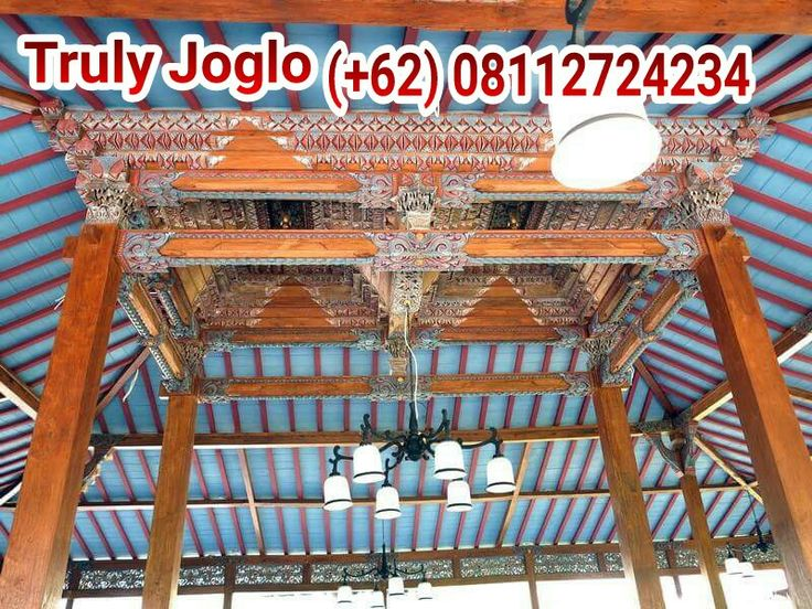 """Joglo Pendopo, originally from Java is frequently modified as villa houses & even a restaurant like """"Manisan"""" of Alaya Resort Ubud, Bali. This 17 x 19 meters construc applies Joglo as its center. Using Recycled teak to meet strong & good grains. It is so beautifully carved & painted that it attracts many visitors. Prepared by Truly Joglo Kudus.  Info & quotes :  Telp/Whatsapp:(+62) 08112724234 Facebook: Arif Joglo Java Bali  email: Truly.Arifsuryanto@Gmail.com…"""