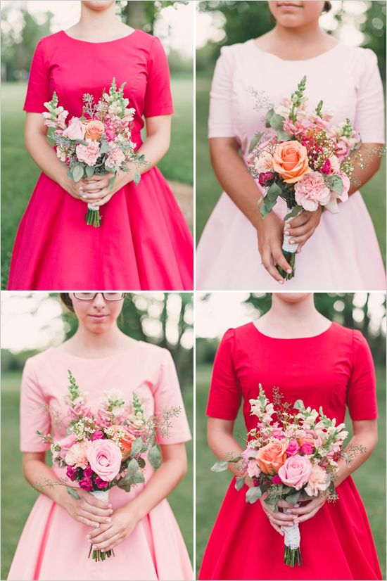 50s inspired bridesmaid dresses!!! LOVE!!!! Perfect for Fall or winter wedding!