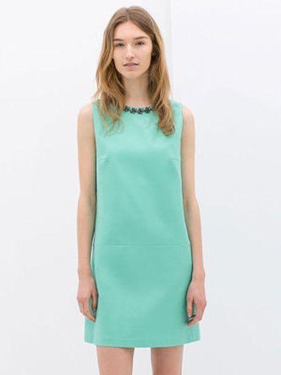 robe vert d'eau de zara