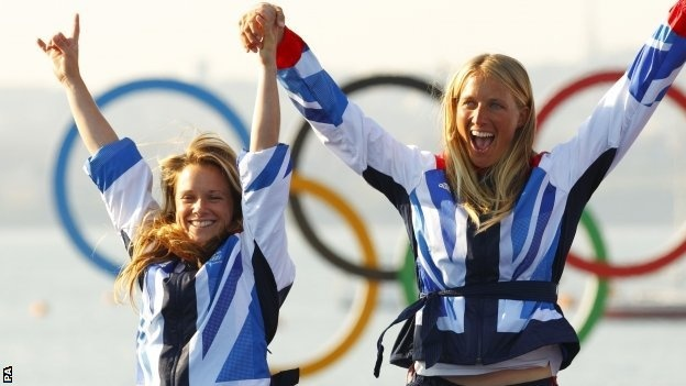 Silver medal teams - Hannah Mills and Saskia Clark (Sailing, Women's 470)