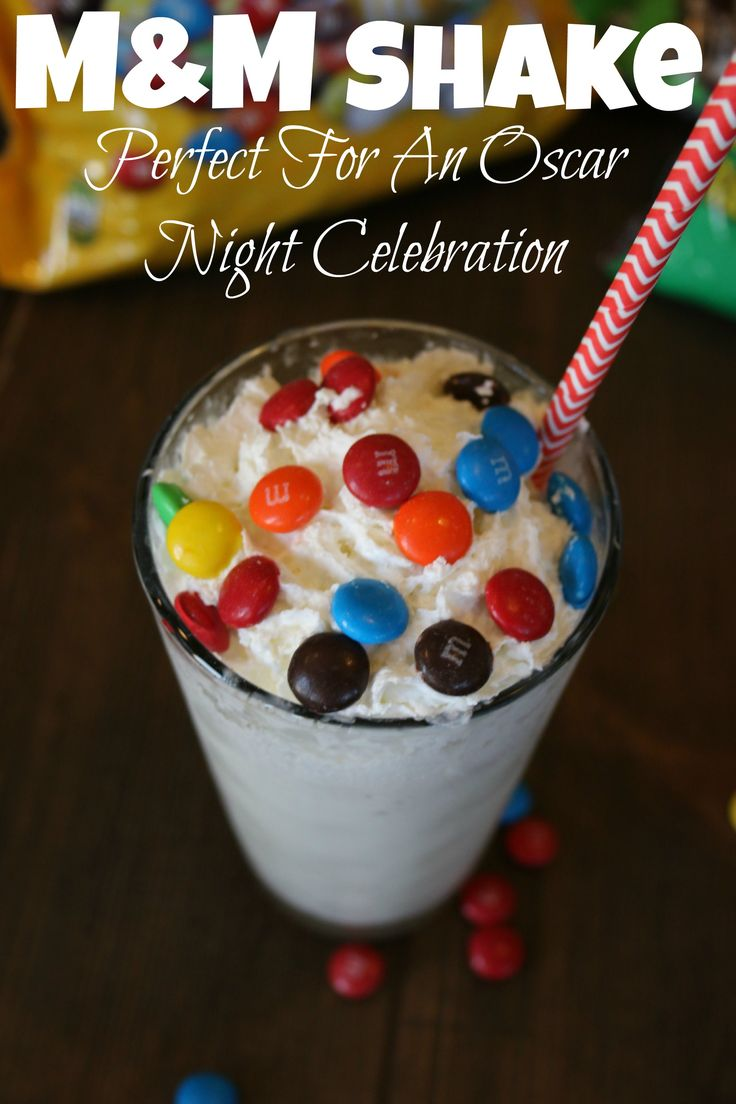 Perfect Oscar night snack... Award winning M&M's Shake... makes you feel like a winner even if you don't win an Oscar! #Oscars #ad