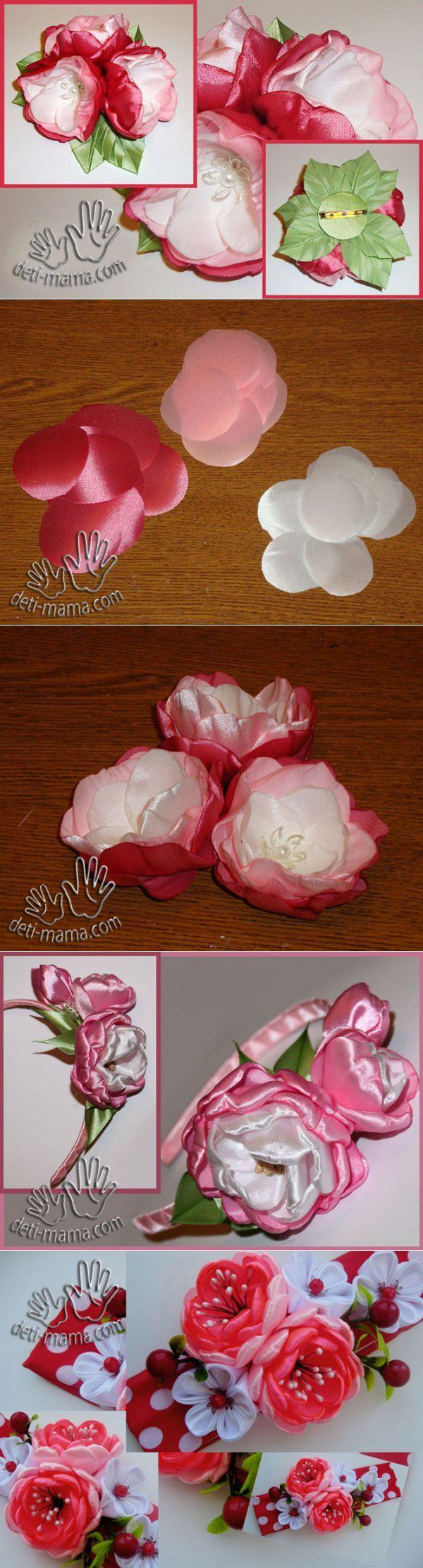 Flores de tela con las manos. Rosa Mosqueta | La revista para las madres y los niños