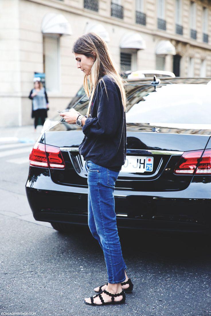 Paris_Fashion_Week_Spring_Summer_15-PFW-Street_Style-Basic_Outfit-Jeans_Ralph_Lauren_Shirt-