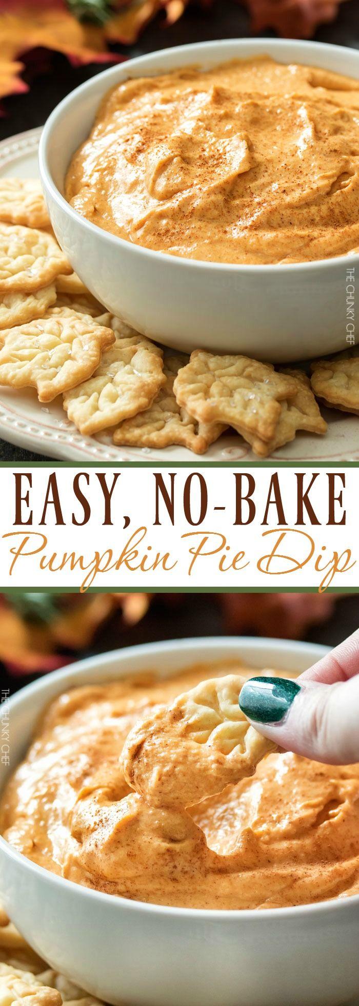 Pumpkin Pie Dip | This dip is no bake, and tastes just like a great pumpkin pie…