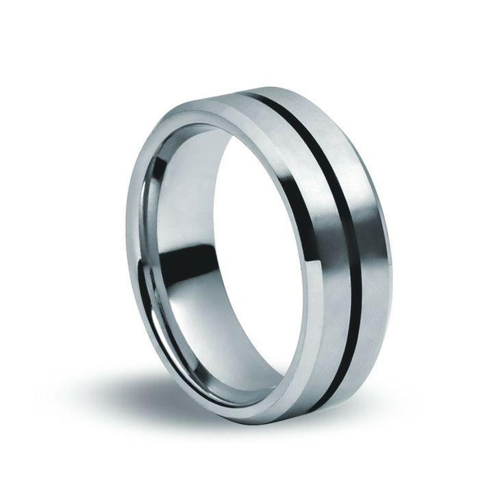 Tungsten Carbide Matte & Black Ring
