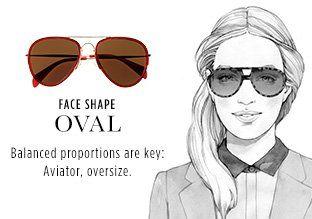 Alicia Malesani-Illustrator Shades by Face Shape: Oval, http://www.myhabit.com #trafficnyc