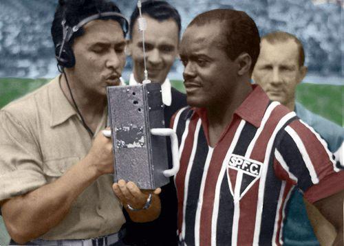 Leonidas da Silva, el Diamante Negro. El mas grande jugador de Brasil hasta la llegada de Pele, marco 261 goles en 338 partidos de clubes, Vasco, Peñarol, Botafogo, Flamengo y principalmente Sao Paulo. Marco 21 goles en 19 juegos de seleccion.