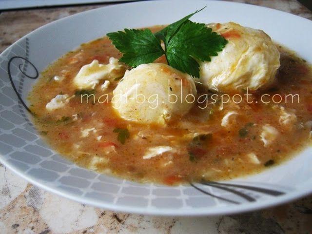 Кулинарен блог на Маги: Яхния от забулени яйца