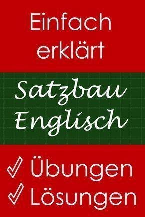 Probleme mit dem englischen Satzbau?