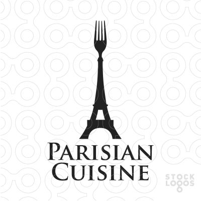 Logo Design Idea coreldraw tutorial creative logo design ideas 9 Exclusive Customizable Logo For Sale Parisian Cuisine Stocklogoscom