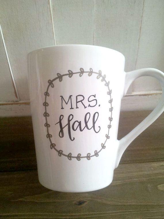 mrs. mug new last name wedding gift / newlywed door theapothecarybee