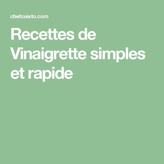 Recettes de Vinaigrette simples et rapide