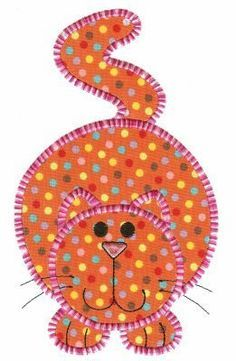 Fat Cat Applique ~ Crazy Cat Appliques, a collection of 12 crazy cats. I want to make a quilt using these. So cute!