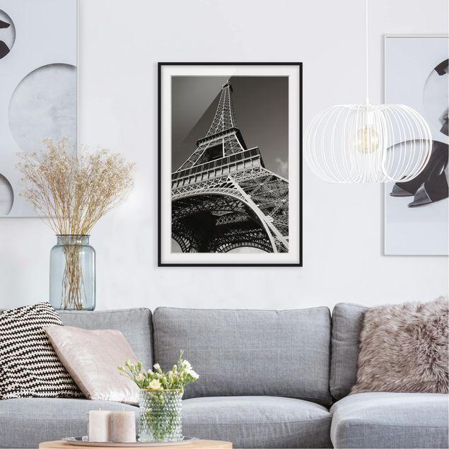 Bild Mit Rahmen Eiffelturm Hochformat 4 3 Eiffelturm
