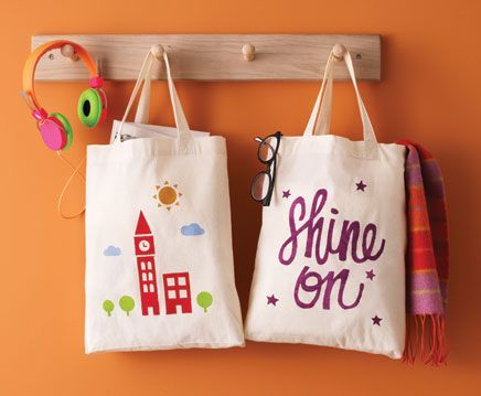... about Stenciled Totes on Pinterest | Bags, Stencils and Blue birthday