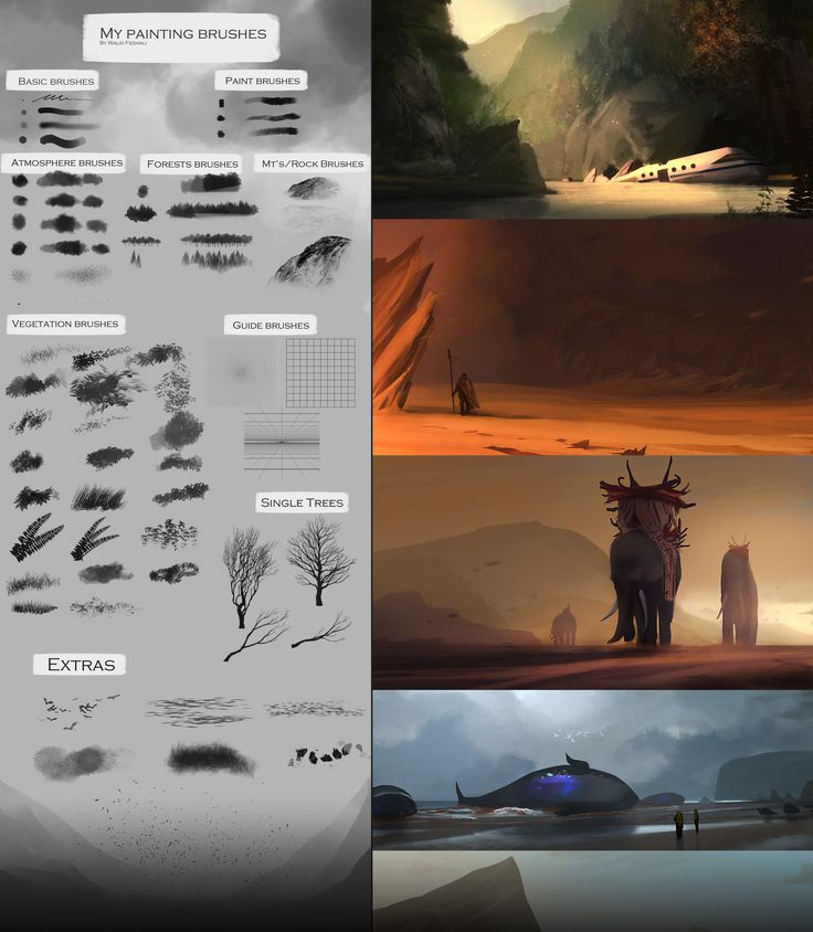 My painting brushes (Concept art, speedpainting) by SoldatNordsken on deviantART via cgpin.com
