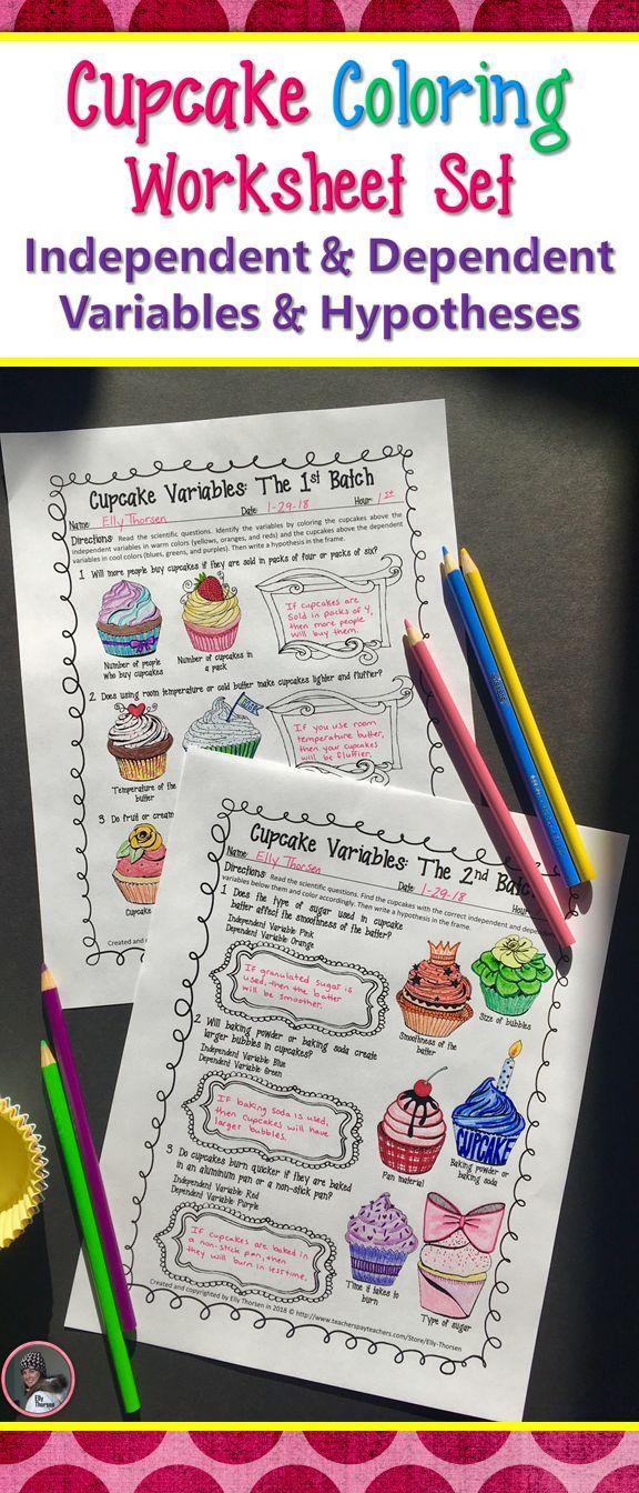 Scientific Method Hypothesis Independent Variable Dependent Variable Coloring Color Worksheets Middle School Science Resources Elementary Science Classroom