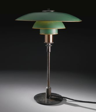 """Poul Henningsen                                """"PH"""" TABLE LAMP WITH TYPE 4/3 SHADES, ca. 1933"""