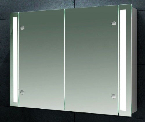 Nara Illuminated Double Door Bathroom Mirror Cabinet With Shaver Socket 115