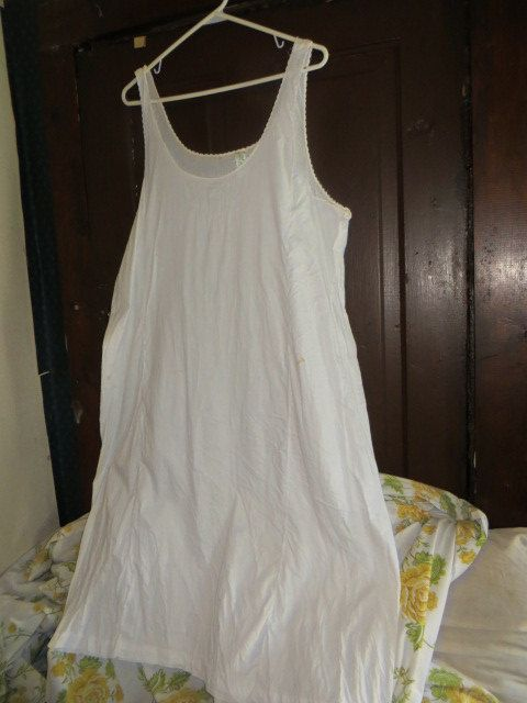 vintage 1950 u0026 39 s penney u0026 39 s adonna size 48 womens cotton full slip dress frock
