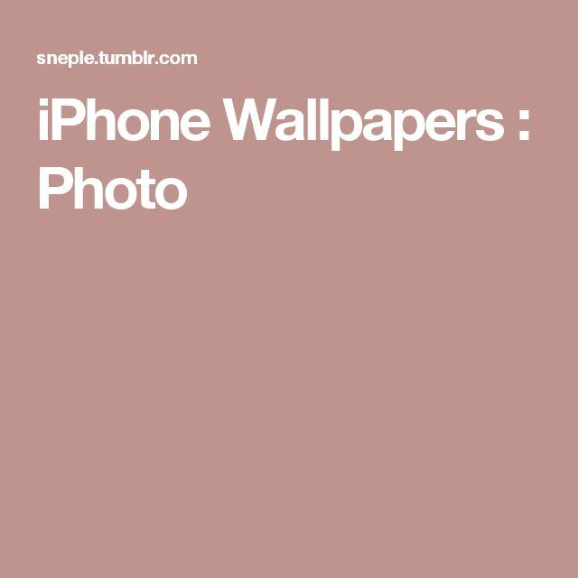 iPhone Wallpapers : Photo