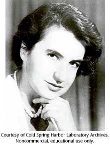 Rosalind Franklin - British scientist whose work the basis for the discovery of the structure of DNA