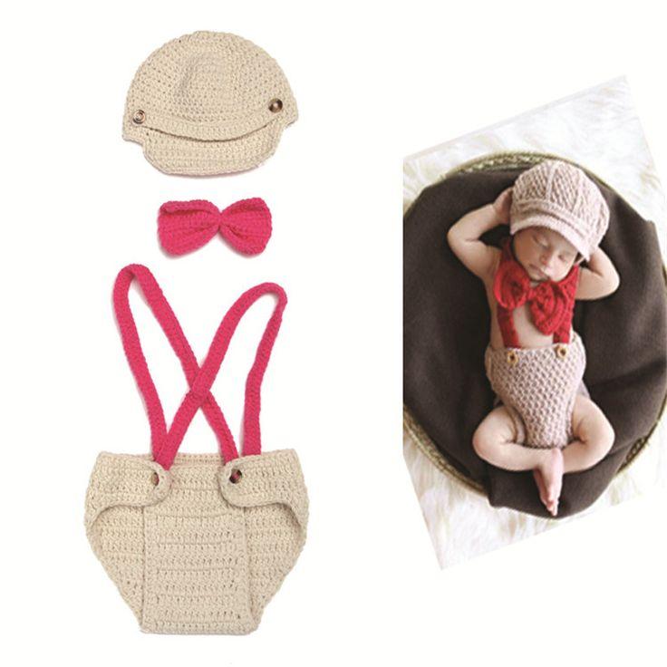 Новорожденный фотографии propsebay младенец связал три костюма джентльмен нагрудник Hat рождество хэллоуин руководство