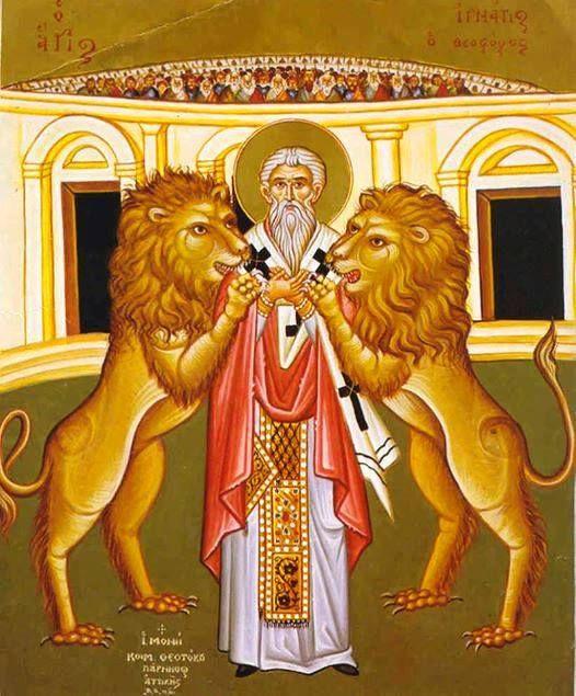 Ὁ Ἃγιος Ἰγνάτιος, ὁ Θεοφόρος - 20 12. +Ανακομιδή Ιερών Λειψάνων του Αγίου Ιερομάρτυρος Ιγνατίου του Θεοφόρου - 29 01.