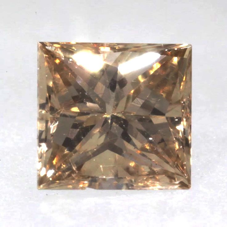 0.11 ct Champagne -C5 SI2 Clarity 2.73x2.64x1.77 mm Princess Cut Natural Diamond