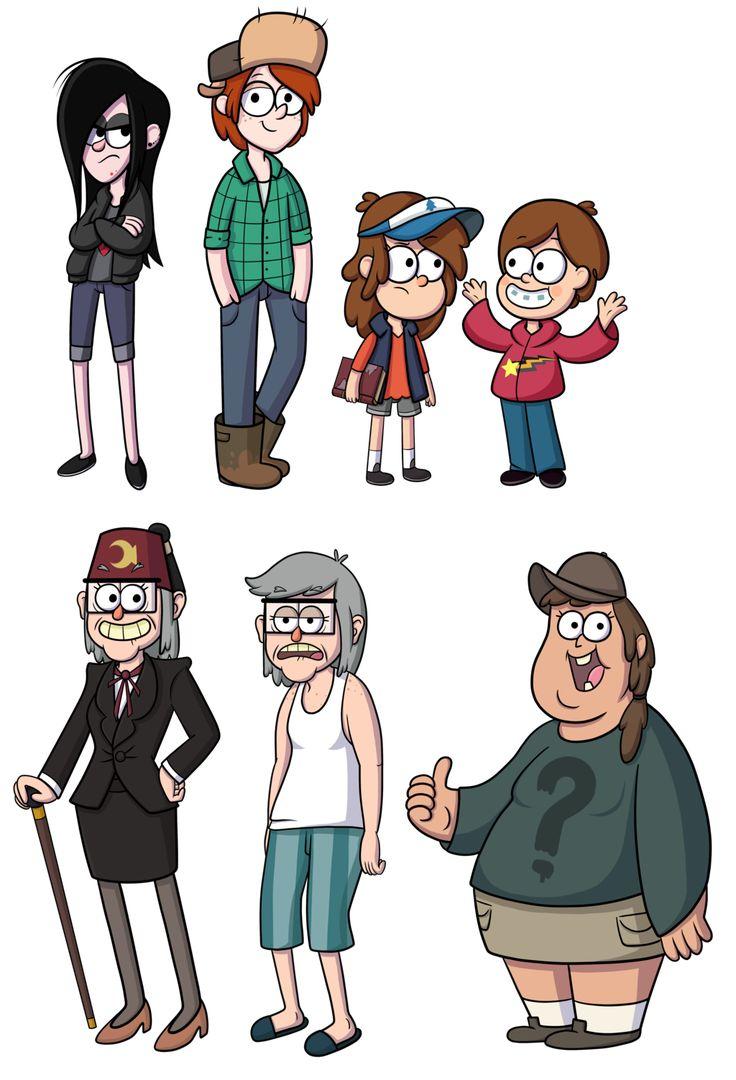 Genderbent Gravity Falls characters :D  Gravity Falls R63 by TheCheeseburger.deviantart.com on @deviantART