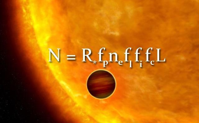 Drake Equation beautiful graphic