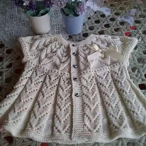 Lace baby vest