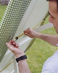 Add grommets to oilcloth and secure with bungee cords for an outdoor tablecloth that won't blow away!