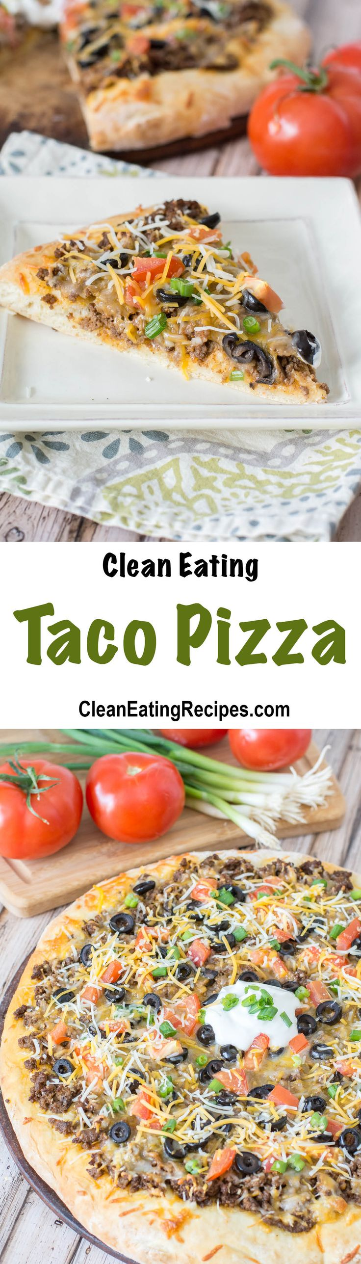 I love this Clean Eating Taco Pizza! It's a lot healthier than pepperoni and my kids love it.