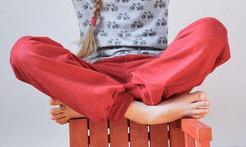 Kinderhose MIX & MORITZ aus Sweat, mit Bündchen als Beinabschluss