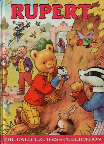 Rupert Annual, United Kingdom, 1980, illustrated by Alex Cubie, published by Purnell under license from The Daily Express.