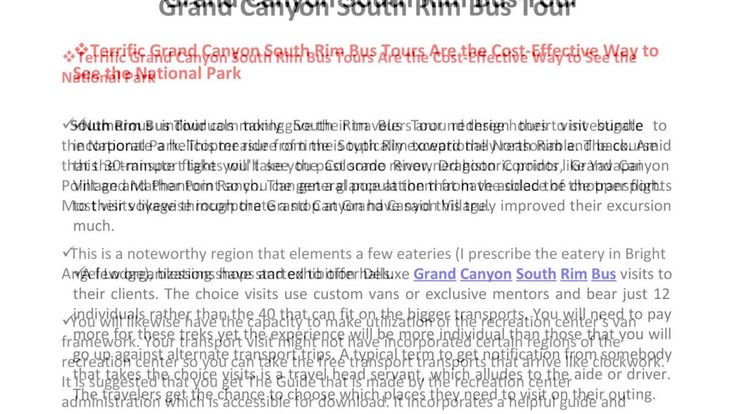 Grand Canyon South Rim Bus Tours. #YouTube #Travel #Attractions4us