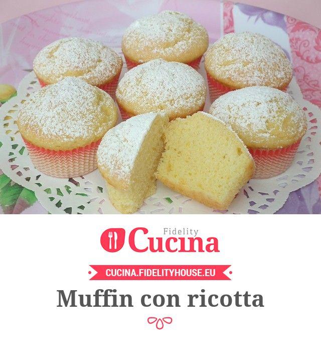 Muffin con ricotta della nostra utente Stefania. Unisciti alla nostra Community ed invia le tue ricette!