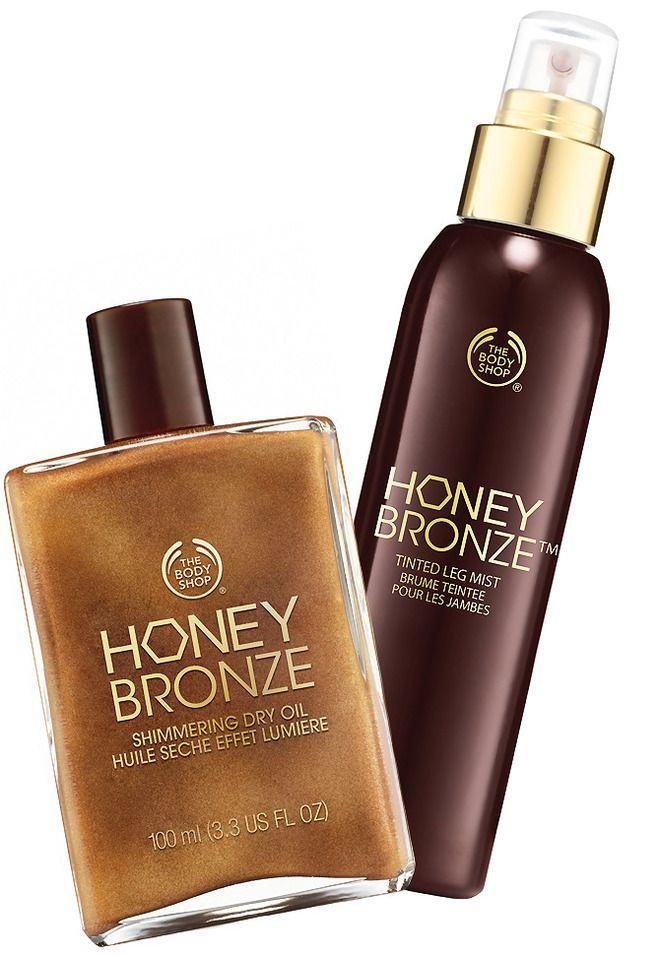 Сухое масло-блеск для тела и тонирующий спрей для ног Honey Bronze от The Body Shop