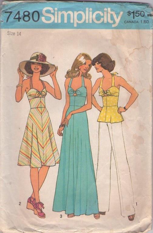 Halter Top Dress Sewing Patterns