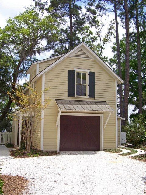 One Car Garage 21 X17 With Potting Shed And Upstairs Apartment Cottage House Exterior