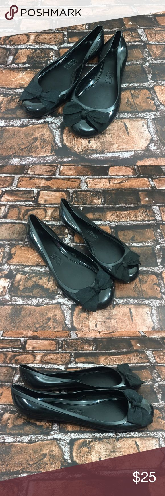 J Crew Woman's Jelly Black Ballet Flats 9 J Crew Woman's Black Jelly Ballet Flats . Size 9. No major flaws or defects. J. Crew Shoes Flats & Loafers