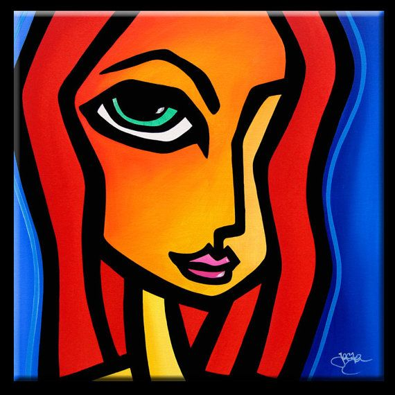Abstract Painting Modern Pop Art Contemporary Large