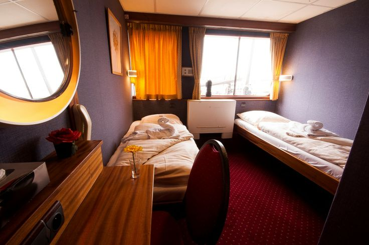 Two person room on board the rivercruiser the MS Andante.